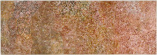 Emily Kame Kngwarraye. Language group  Anmatyerr, Central Desert region, Northern Territory. Title: Untitled (Alhalkere), 1992. Synthetic polymer paint on canvas. 165.0 x 480.0 x 4.0cm.
