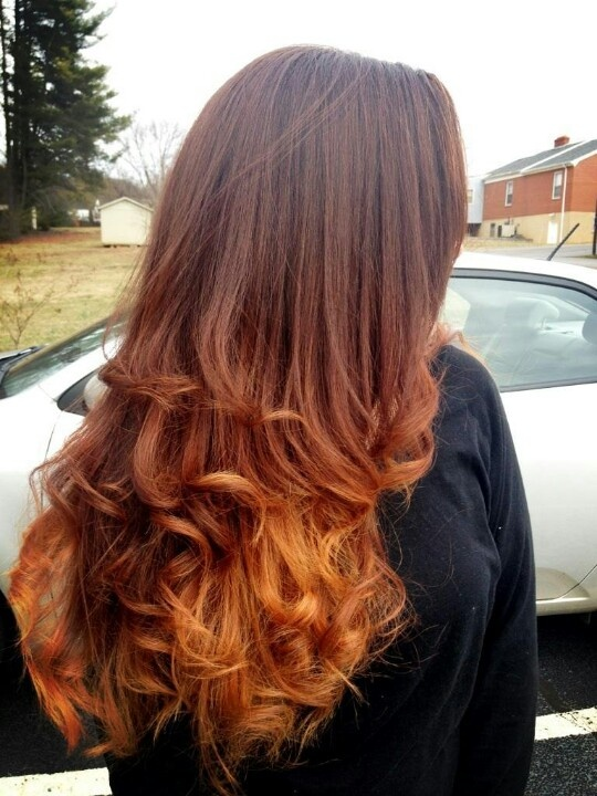 Ombre Red To Light Copper Ombr 233 Pinterest Copper
