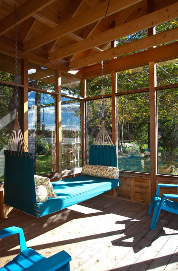 Nice Blue Hammock Chairs For Perfect Sunroom Ideas Get Latest Designs U0026  Decor Ideas For Your