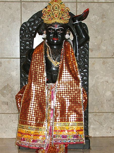 Lord Shrinathji-When Lord Krishna was seven years old, he took the form of Shrinath Ji. He lifted Govardhana mountain (near his birth place Mathura) with his little finger and Govardhan swaroop (form) caine into existence. The Vaishnavas (those who worshipped Lord Vishnu) became the followers of Govardhanath