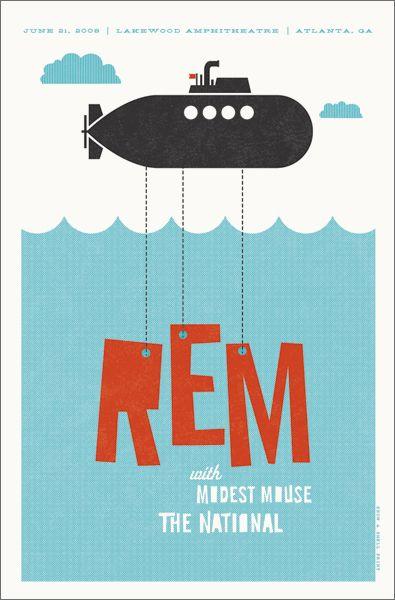 REM Poster by Hatch Show Pint Nashville, TN