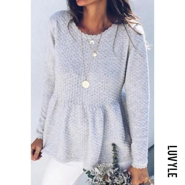 AdoreWe #Luvyle #Luvyle Casual Plain Long Sleeve