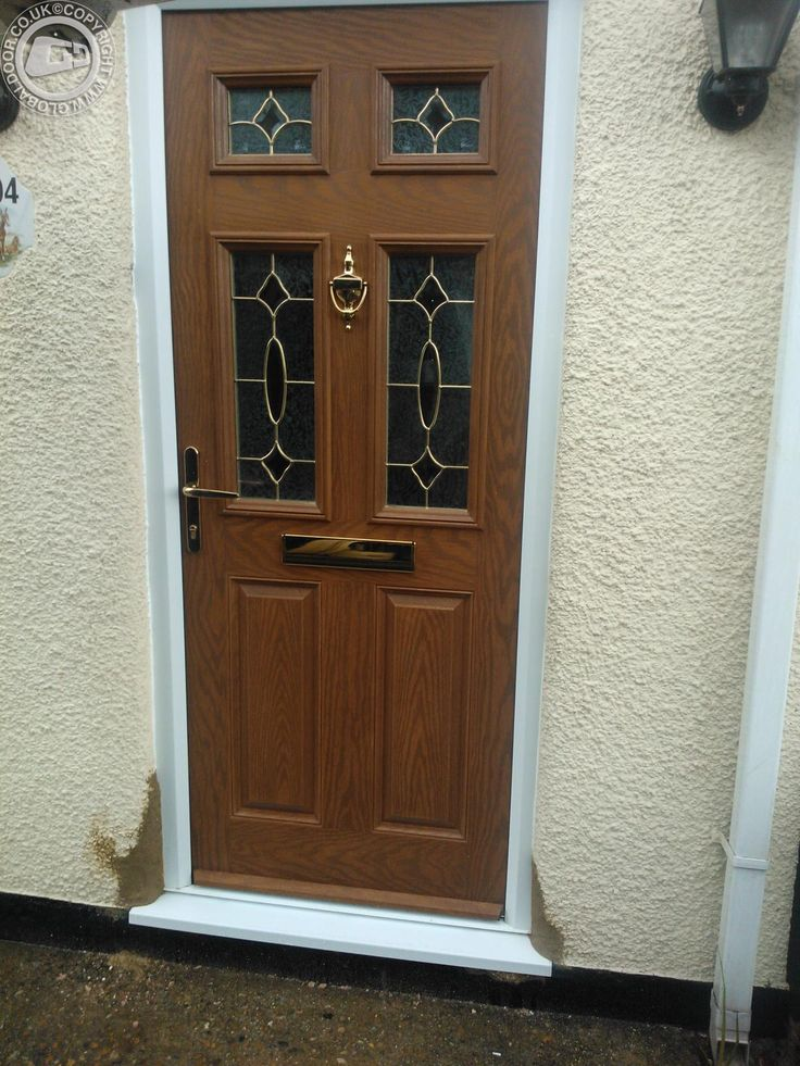 Light Oak Composite Front Door Part - 19: Oak-2-panel-4-sqaure-global-composite-door