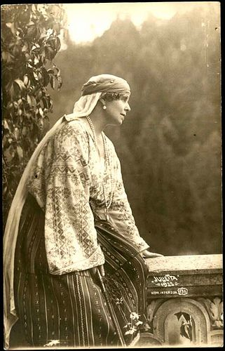 Queen Marie of Romania, wearing the national dress