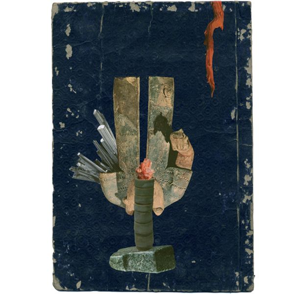 """rosscarron-collage: """" Indigo No.2—on Japanese book back dated 1793 """""""