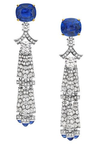 Diamond and Sapphire Earrings You know, I bet these are heavy as hell. I'm okay with that. -rhc