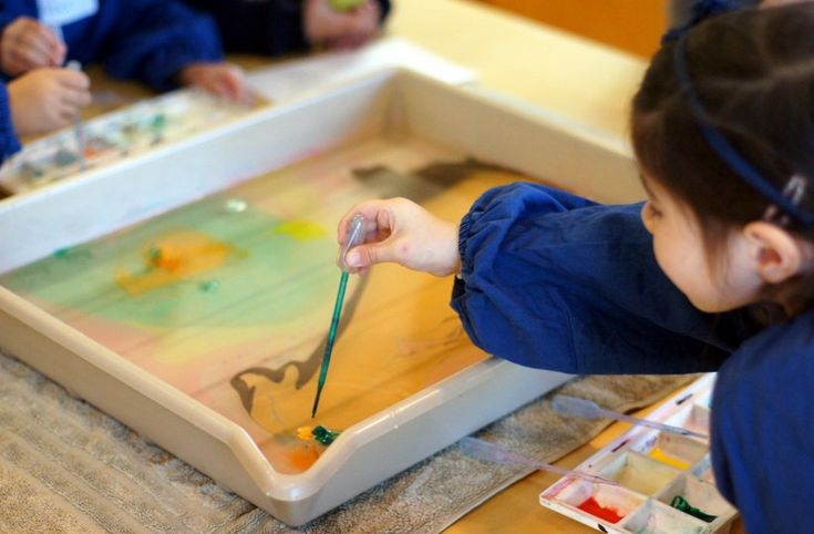 Lady AB learns the art of marbling at ArtPlay - we're going to try this again at home as it was so much fun!    http://bit.ly/inkplay    #tothotornot #artplay #birrarungmarr #melbournewithkids
