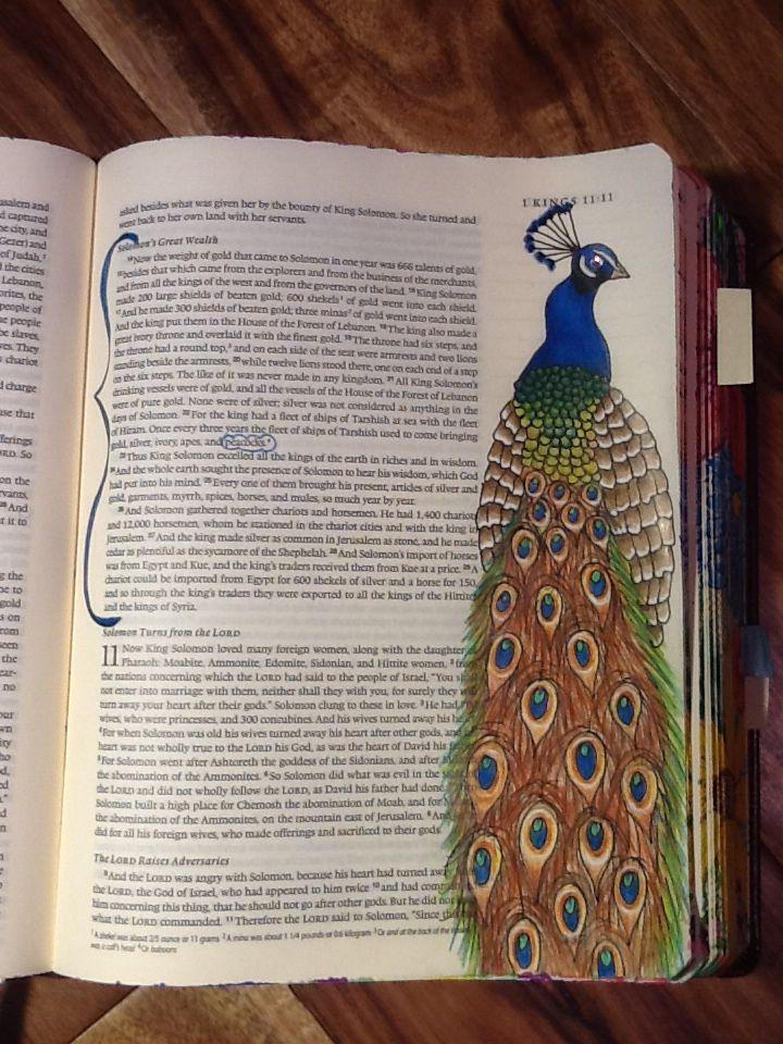 1 Kings 10:22. King Solomon's great wealth. Sherrie Bronniman - Art Journaling: In My Bible