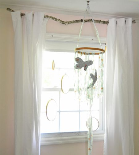 This idea is not a new one, but it's definitely a great idea if you are a looking for an affordable way to hang curtains and add interest to country, cottage or rustic room decor. Using a branch as a curtain rod definitely catches attention and you don't need to spend any money for this project. http://www.home-dzine.co.za/crafts/craft-branch-curtain-rod.htm