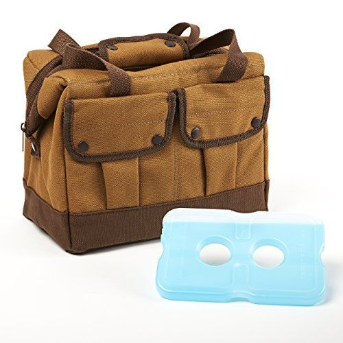 Fit & Fresh Men's Rugged Cypress Insulated Lunch Bag with Ice Pack #fitfresh #lunchbag