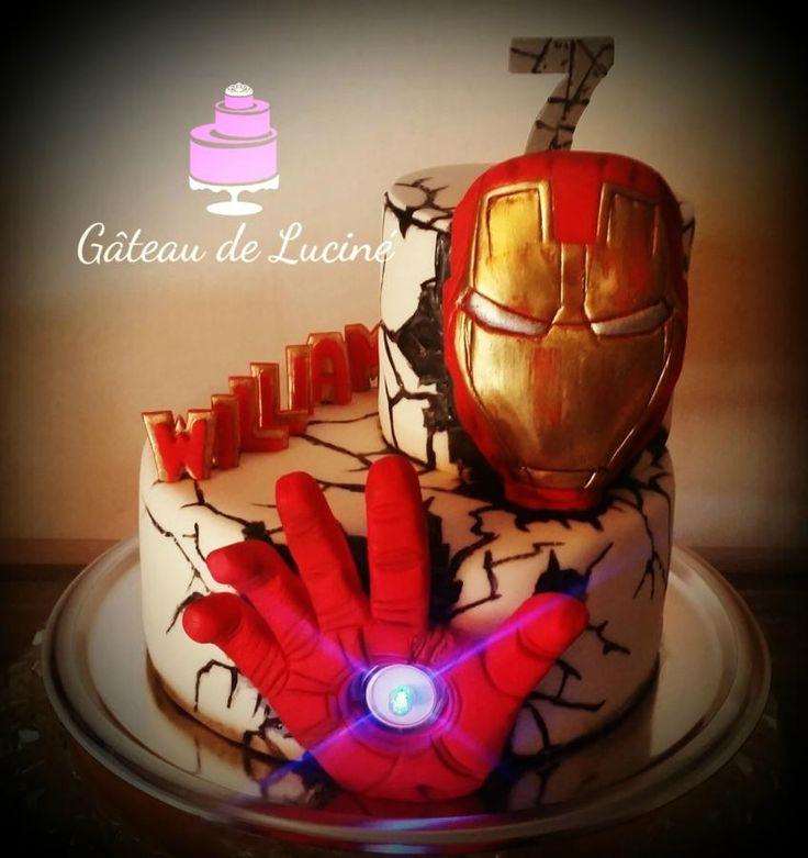 Iron+man+cake+-+Cake+by+Gâteau+de+Luciné