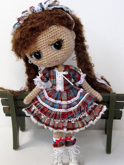 beautiful crochet doll - I wish I had this kind of creative skill full stop, it's amazing