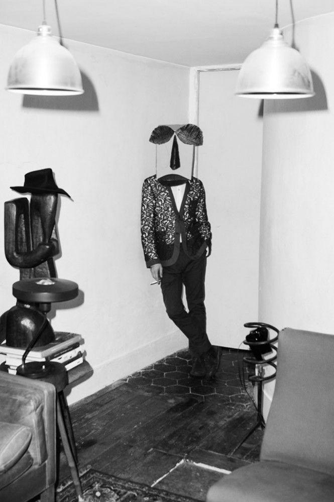 All clothes Romeo Gigli; Fashion by Nicholas Georgiou; Masks by Pascal Humbert; Modelled by Nicholas Georgiou - Photography by Vassilis Karidis