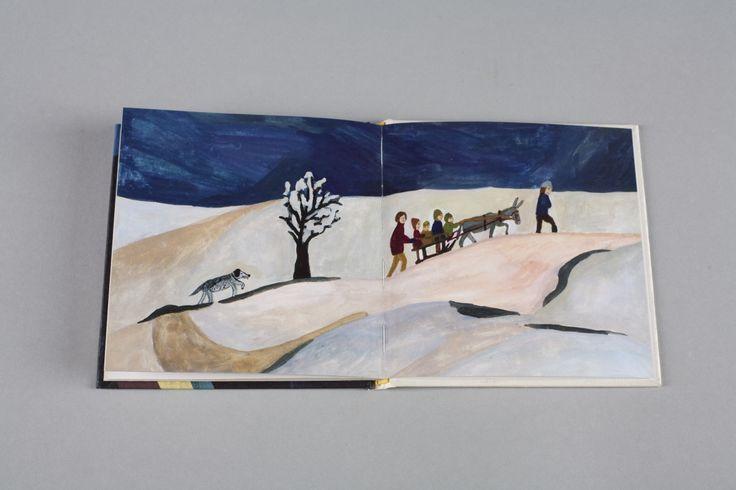 Vánoční knížka   české ilustrované knihy pro děti   Baobab Books. Dlouho očekávaná malovaná Vánoční knížka Terezy Říčanové, autorky Kozí knížky. Netradičně, a přece citlivě vyprávěný příběh o Narození optikou sedmiletého děvčátka.