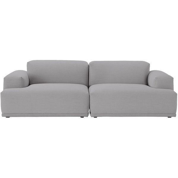 Muuto Connect Sofa Remix Fabric ($3,320) ❤ liked on Polyvore featuring home, furniture, sofas, grey, muuto, grey couch, upholstery fabric sofa, modular sofa and gray couch