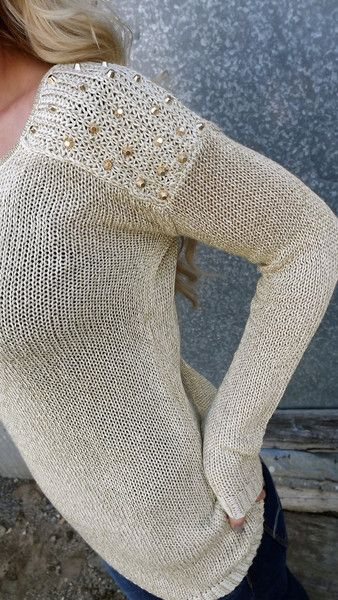 Studded Sweater. Holy moly I love this.