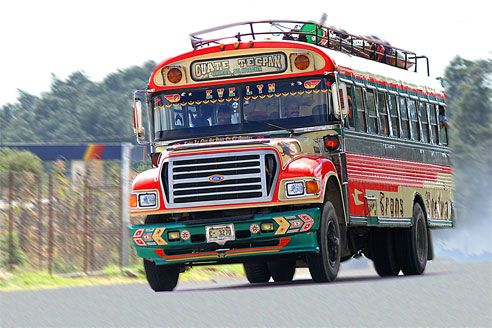 Great article on #Guatemala chicken buses. Definitely ubiquitous and a fun highlight of Guatemala.