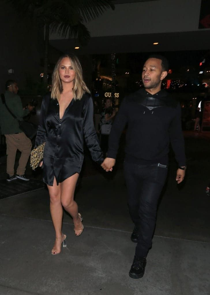 Pin for Later: Chrissy Teigen Just Started a Sexy New Trend — and We're Already on Board And Started the Next Big Trend For Slip Dresses