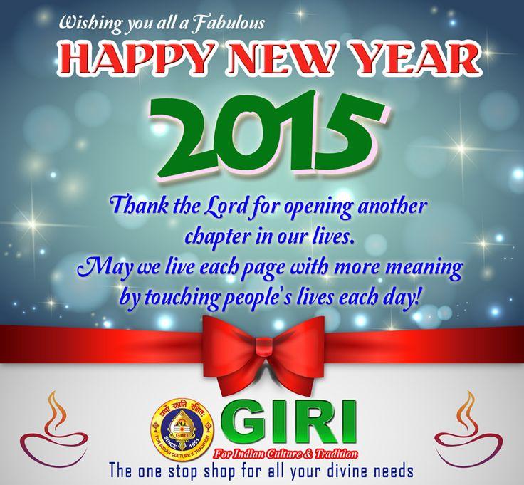 GIRI Wishing you all Happy New Year 2015