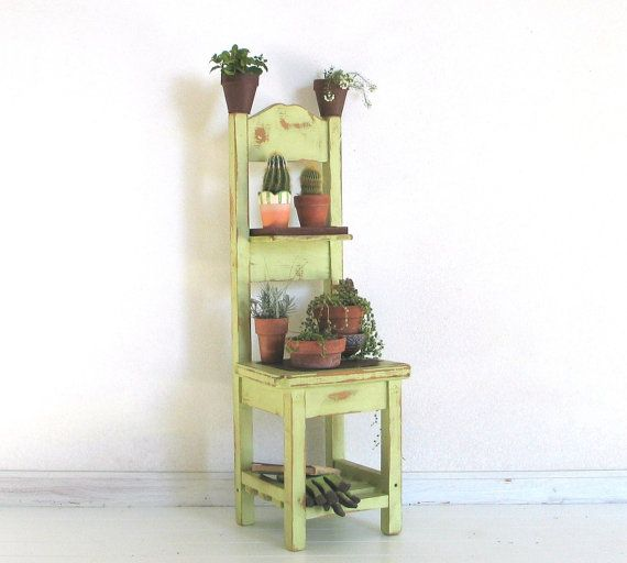 Green Chair Planter by BluejaysWorkshop on Etsy, $119.00