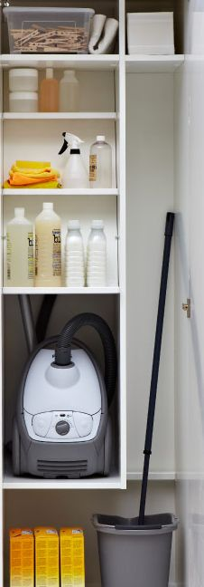 organize your cleaning closet/supplies...Sometimes, getting motivated to start cleaning is a challenge. And when the closet is a mess of bottles, sponges and a wild vacuum hose, it can feel nearly impossible. With smart interior organisers like these, finding the right bottle or spray is much easier, which makes getting the cleaning done a little more likely.