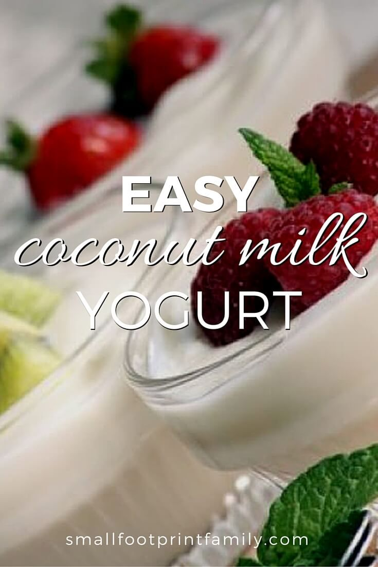 Coconut milk yogurt is a great choice for people allergic to or avoiding yogurt made from cow's milk or soy. And it costs a LOT less than store-bought, without the additives. Click to learn how to make coconut milk yogurt at home!