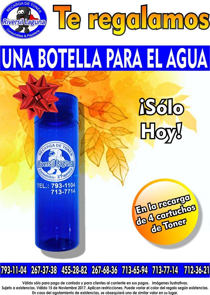 Te damos de #regalo una #botella para el #agua, ¡Sólo #hoy!  Con tus #recargas de #Tóner 😋😎  #Servicio a #domicilio  Llámanos: 793-11-04 267-37-38 455-28-82 267-68-36 713-65-94 713-77-14 712-36-21