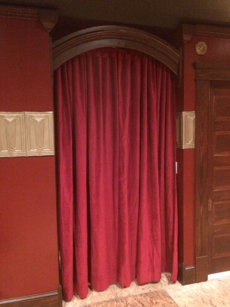 Red Velvet Door Way Cover for Your Home Theater! Great for Room Dividers as well & 170 best Our Customer Photos! images on Pinterest | Velvet curtains ...