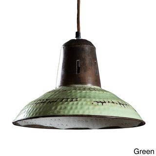 @Overstock - Goshen 1-light Hanging Lamp Pendant (India) - This industrial-style lamp features wide bell shape with a hammered exterior in a unique vintage finish. Offering a traditional design inspired by Southeast Asian decor, this attractive one-light lamp will add style and flair to your decor.  http://www.overstock.com/Worldstock-Fair-Trade/Goshen-1-light-Hanging-Lamp-Pendant-India/8677024/product.html?CID=214117 $134.99
