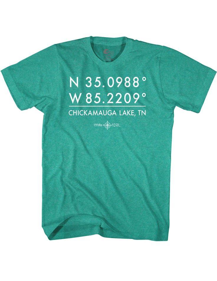 Chickamauga Lake GPS Coordinates T-Shirt