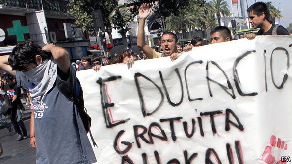 Chile: Lessons from the students   The Economist