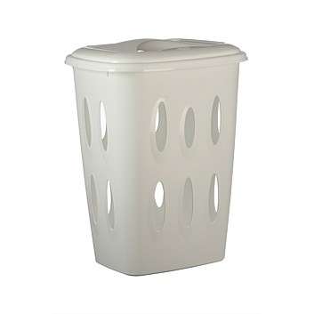Laundry Products & Supplies - Briscoes - White Laundry Hamper - 45L  60% - 12