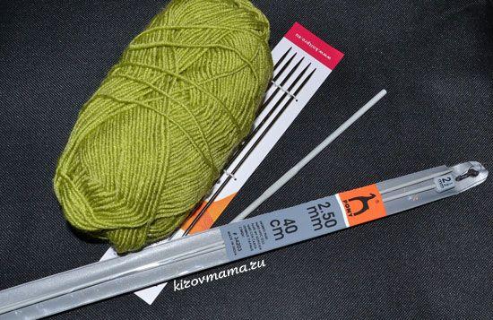 Что нужно для вязания шапочки для новорожденного