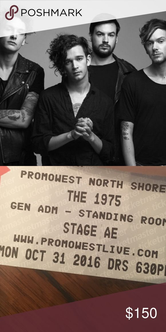 2 THE 1975 TICKETS OCT 31 PITTSBURGH Selling 2 tickets for the 1975 at stage AE in Pittsburgh on October 31. The concert has been sold out since presale and I can no longer attend. Concert is general admission, doors open at 6:30. Price is for 2 tickets! Other