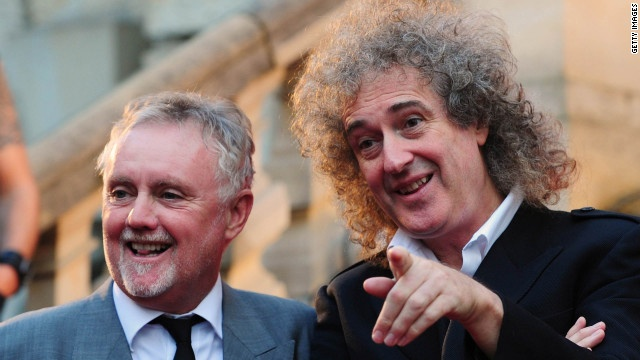 Roger Taylor and Brian May :) This is probably a recent picture, considering the gray hair... ._.