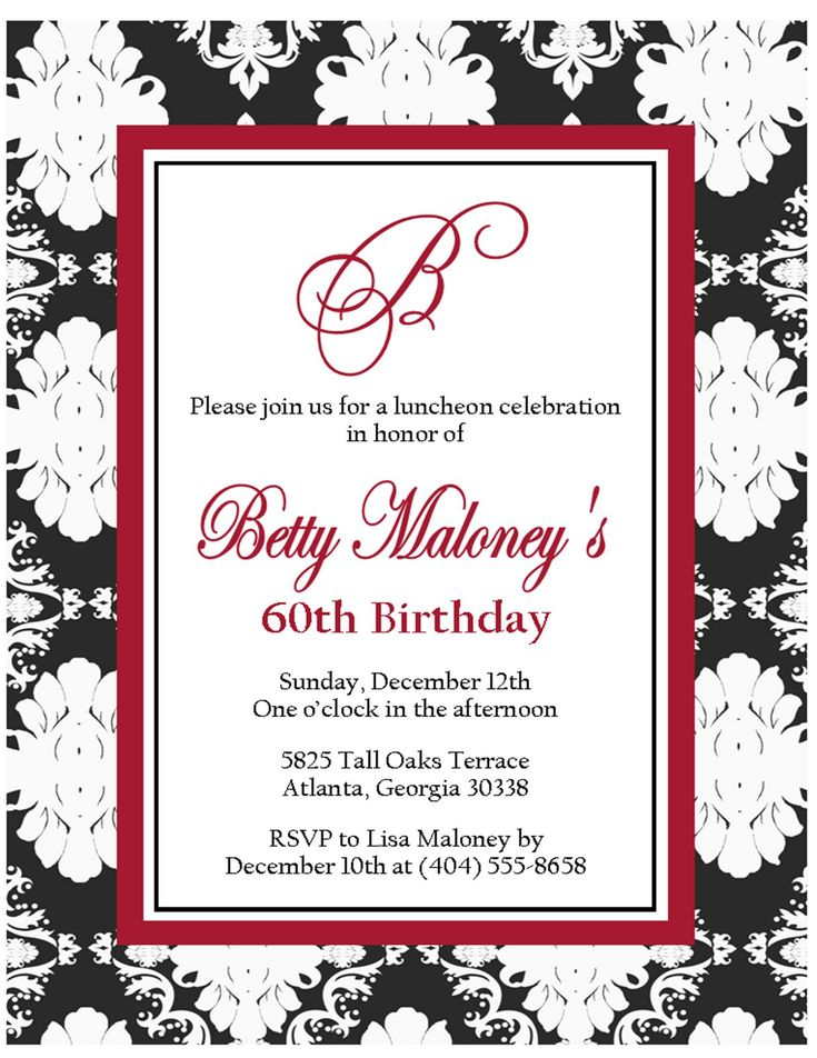 1000  ideas about 60th birthday invitations on pinterest