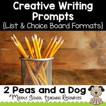 Creative writing topics for middle school