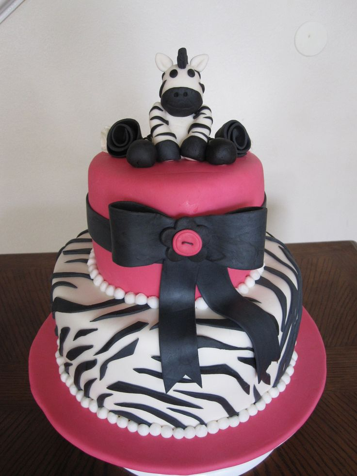 Baby Shower Cakes | Ms. Cakes: Zebra Baby Shower Cake