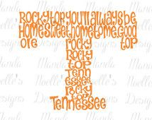Rocky Top Tennessee SVG, Print, DXF, Silhouette Instant Download or Vinyl Decal