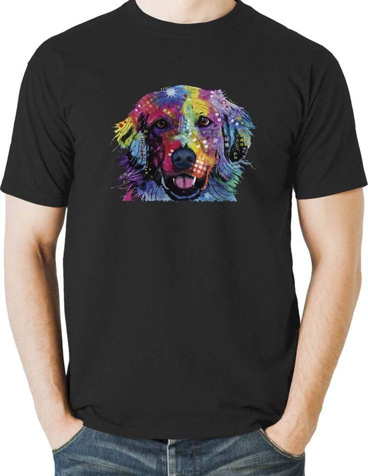 Golden Retriever T Shirt Neon Puppy Dog Colorful Mens Small to 6XL & Big Tall #TShirtsRule #GraphicTee