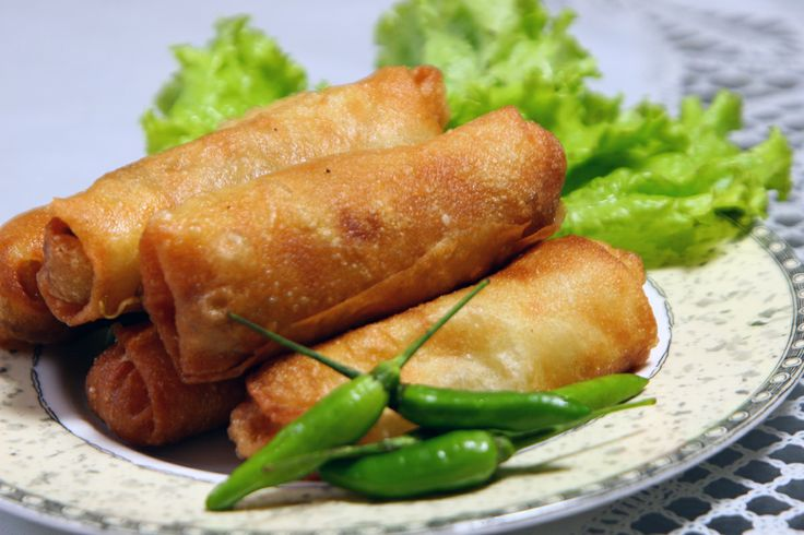Lumpia Semarang named after the capital city of Central Java in Indonesia, Semarang. Originally made by Chinese immigrants, this lumpia is filled with bamboo shoots, dried shrimp, chicken, and/or prawn. It is served with a sweet chili sauce made from dried shrimp (optional), coconut sugar, red chili peppers, bird's eye chili peppers, ground white pepper, tapioca starch, water, and baby shallots…