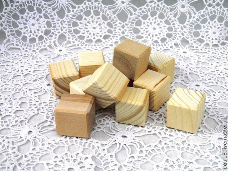 Купить Кубики деревянные. - белый, кубики, кубики деревянные, кубики декупаж, деревянные заготовки, дерево