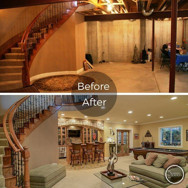 Check Out This Before And After Picture Of A Basement We