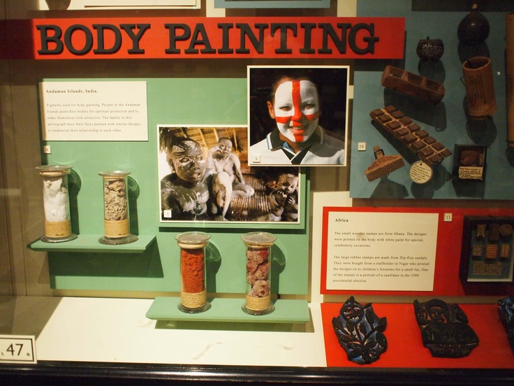 The Body Painting display at the Pitt Rivers Museum.