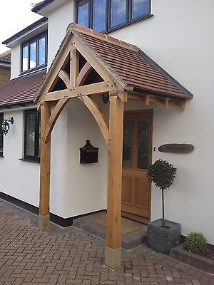 BESPOKE GREEN OAK PORCH FRONT DOOR CANOPY HANDMADE IN SHROPSHIRE