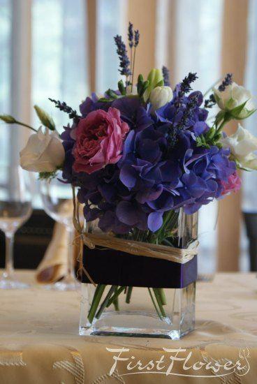 Decor nunta - Restaurant Casa Boiereasca, parfum de toamna in culori pastelate: mov, verde, alb si r