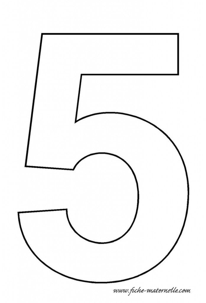 number 5 template | Crafts and Worksheets for Preschool ...