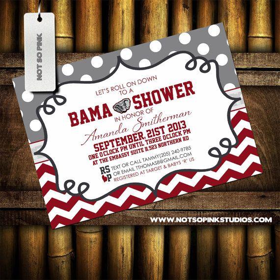 University of Alabama Baby Shower Invitation  by NotSoPinkDesigns, $15.00