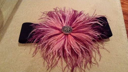 Cinturon de plumas de Marabú - Chicfy