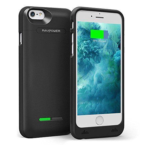 [Coque Batterie iPhone 6s] RAVPower 3000mAh Coque de Protection pour iPhone 6s / 6 (125% d'Extension de Batterie de Secours Rechargeable,…
